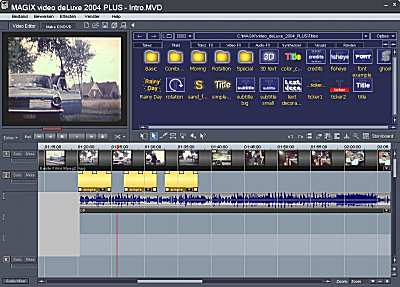 screenshot Magix software